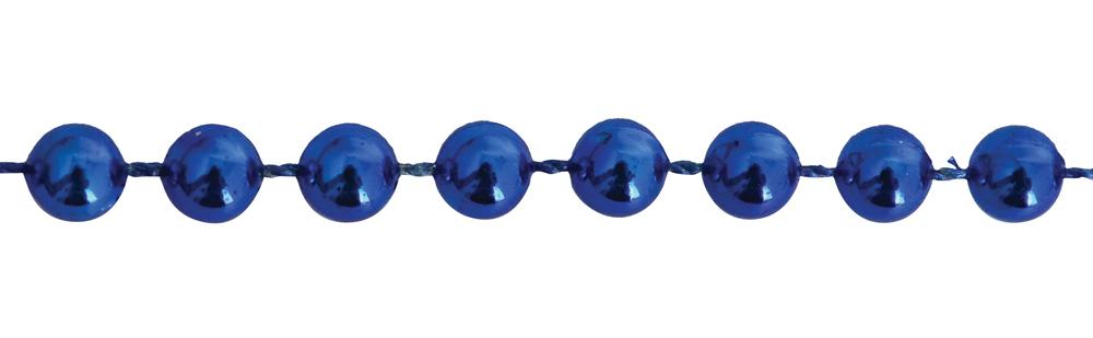 Бусы новогодние 6мм*3м, синие