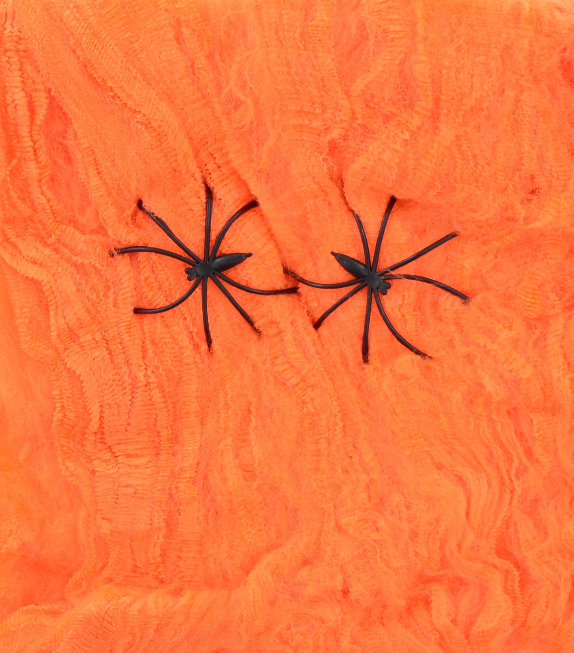Паутина YES! Fun оранжевая с двумя паучками, 20 г