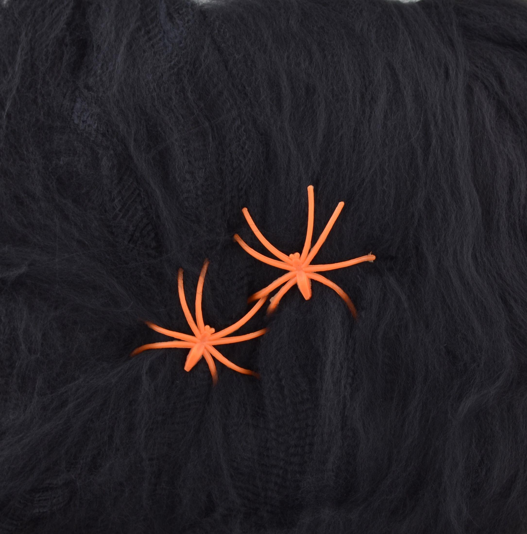 Паутина черная с двумя паучками, 20 г