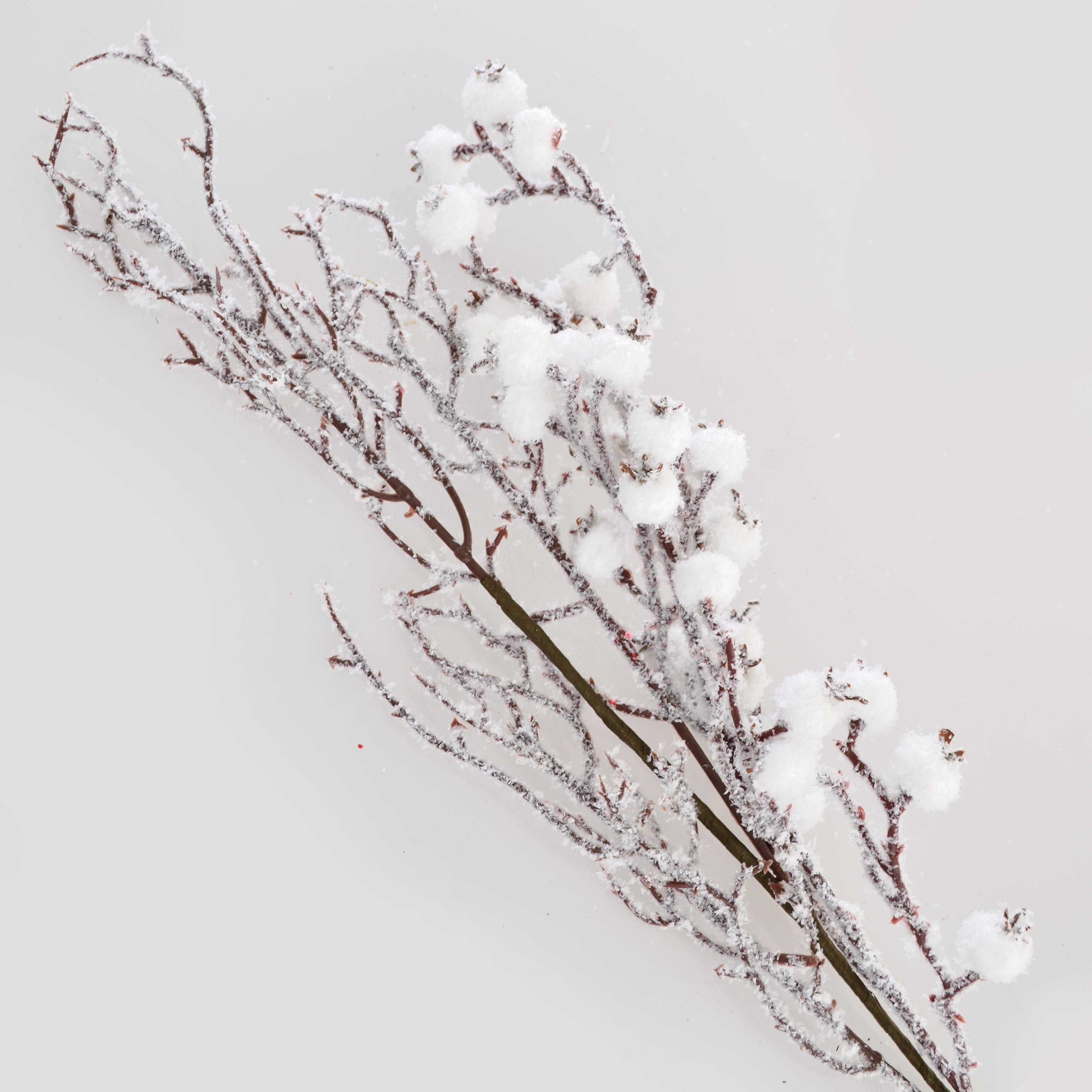 Ветка заснеженная с ягодами, 23 см
