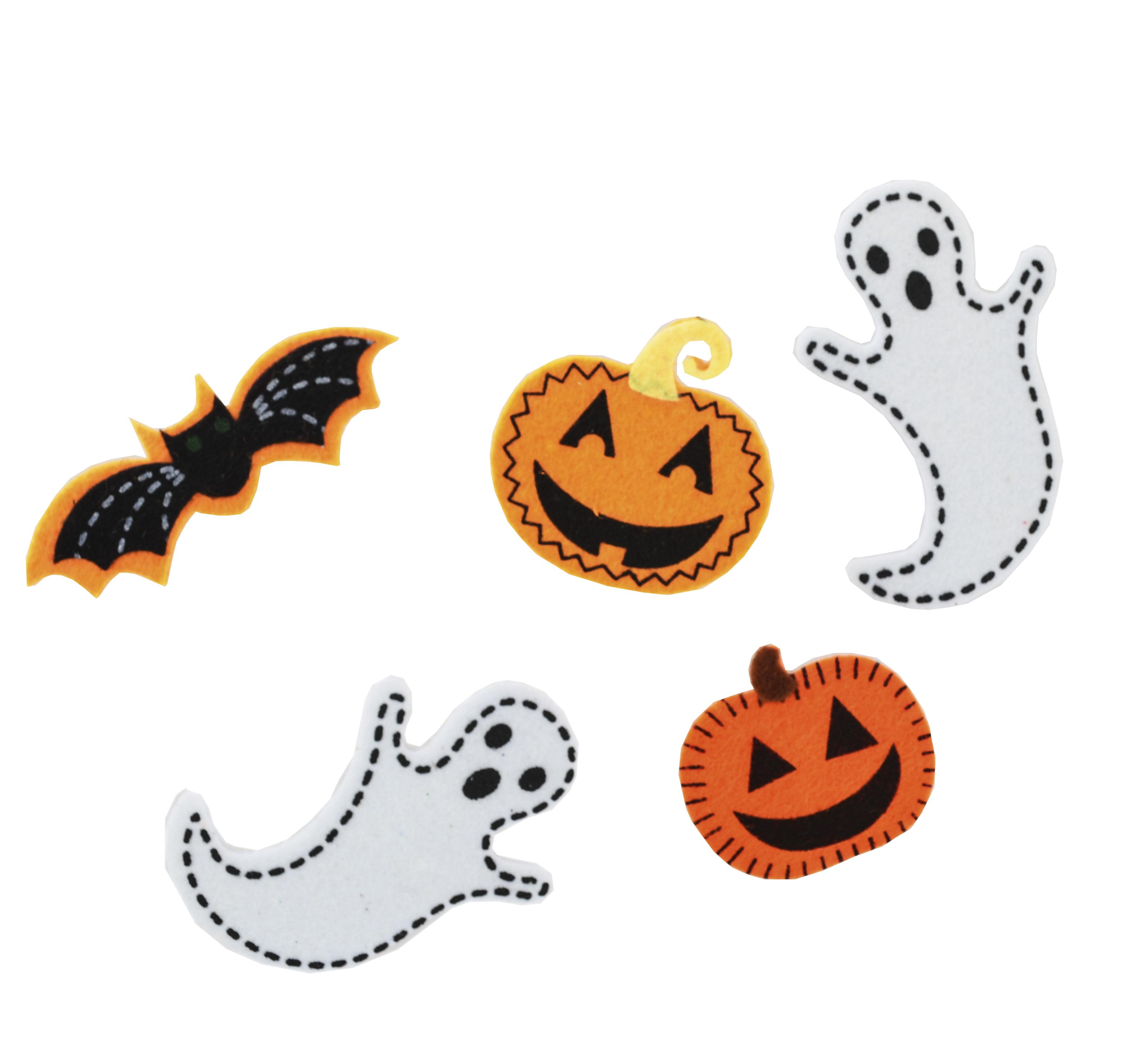 Набор декоративных наклеек из фетра для Хэллоуина № 2, 16 шт.