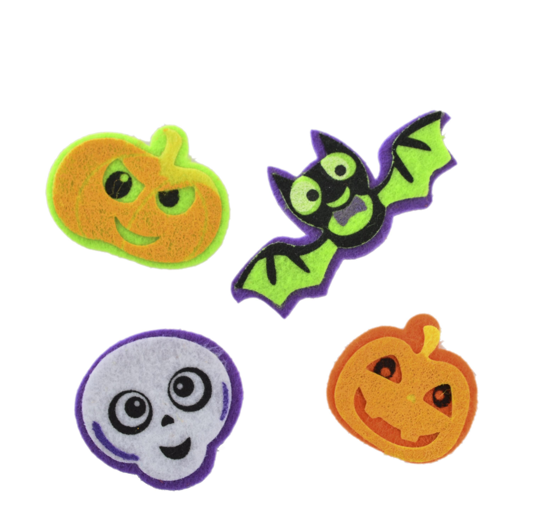 Набор декоративных наклеек из фетра для Хэллоуина № 3, 12 шт.