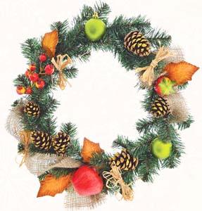 Венок Yes! Fun  Рождественский с украшением