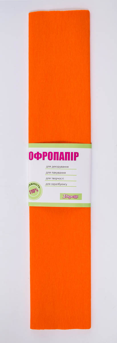 Бумага гофр. 1Вересня оранж. 110% (50см*200см)